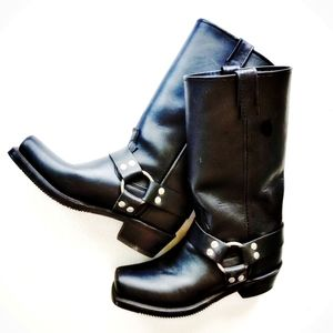 Double-H Boot Co. Women's Harness Black Boots 8.5 #5008
